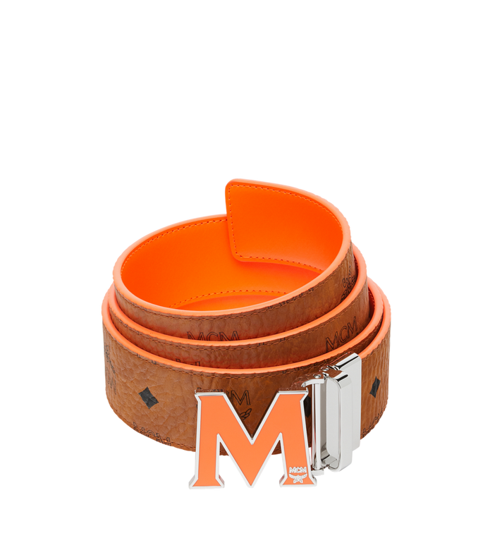 "MCM Claus Flat M Reversible Belt 1.5"" in Visetos Alternate View"