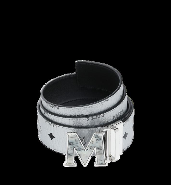 "MCM Claus Marble M Reversible Belt 1.75"" in Visetos Alternate View"
