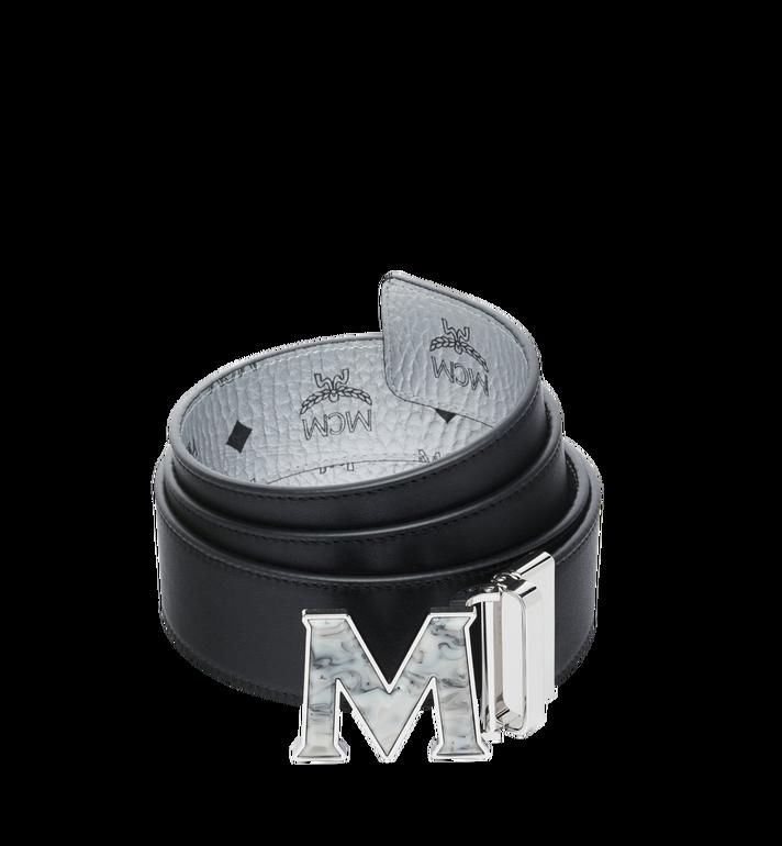 "MCM Claus Marble M Reversible Belt 1.75"" in Visetos Silver MXB9SVI29SB001 Alternate View 2"