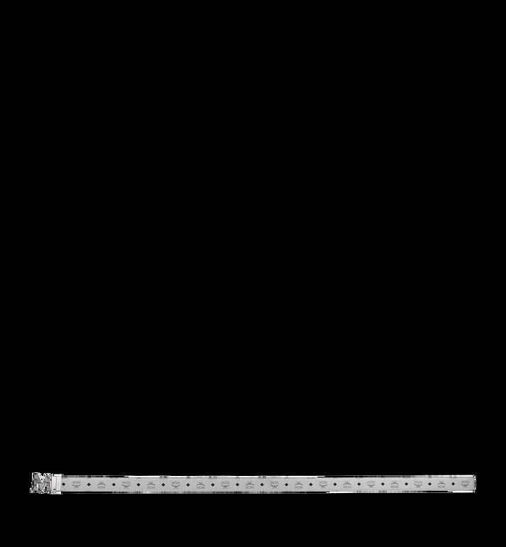 "MCM Claus Marble M Reversible Belt 1.75"" in Visetos Silver MXB9SVI29SB001 Alternate View 3"