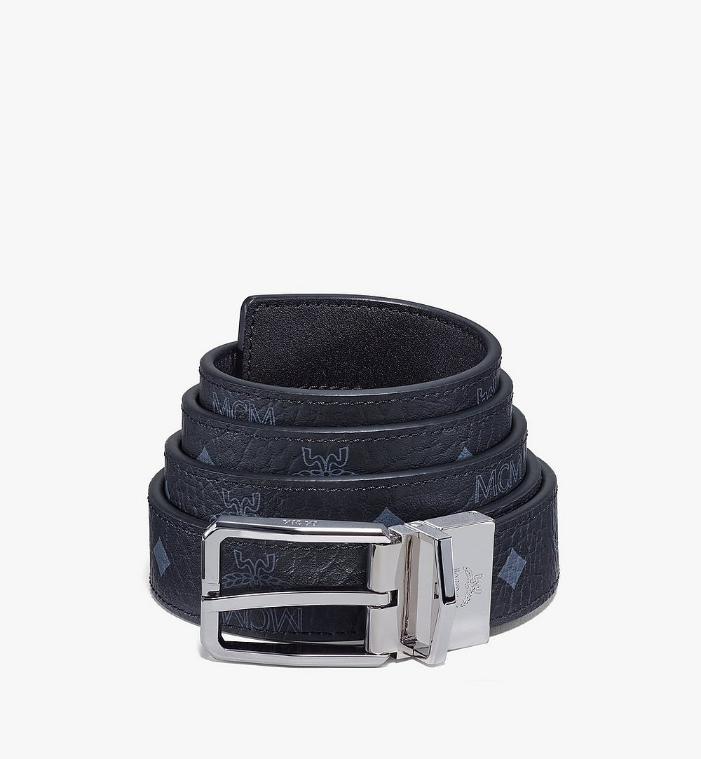 "MCM Reversible Belt 1"" in Visetos Black MXBAADB01BK001 Alternate View 1"