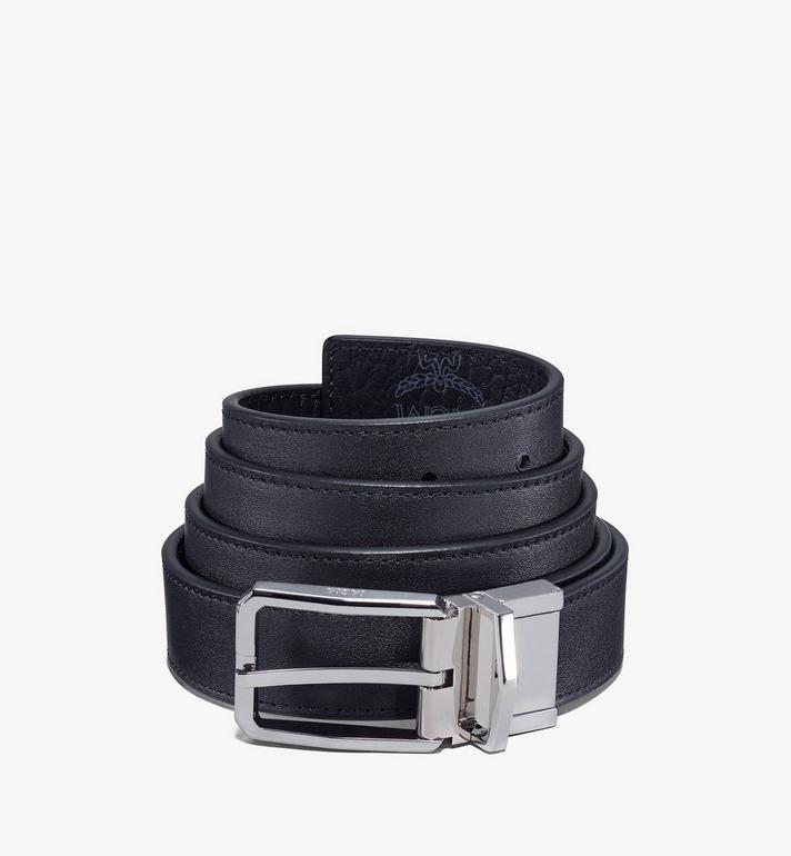 """MCM Reversible Belt 1"""" in Visetos Black MXBAADB01BK001 Alternate View 2"""