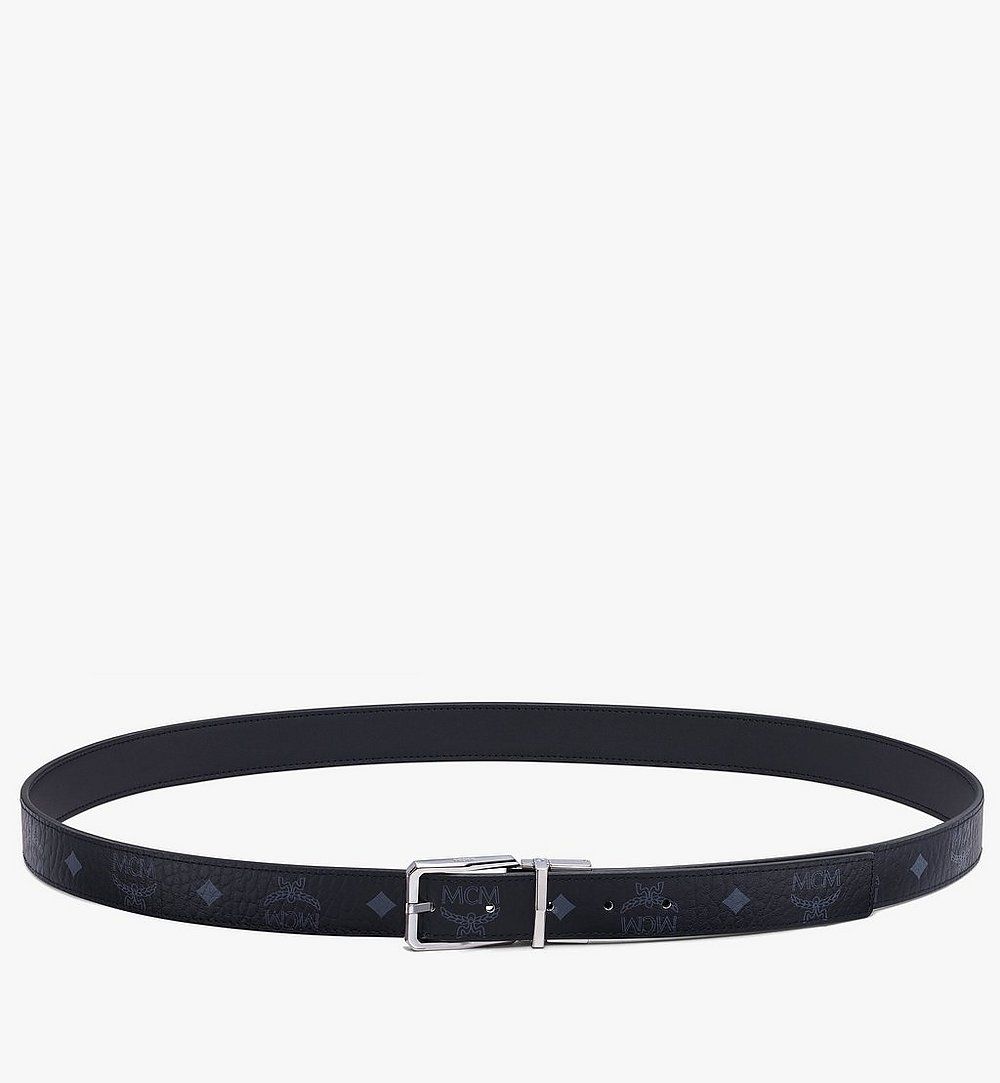 "MCM Reversible Belt 1"" in Visetos Black MXBAADB01BK001 Alternate View 2"