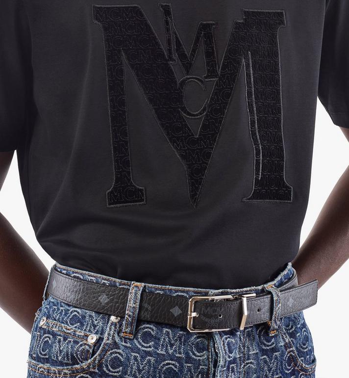 """MCM Reversible Belt 1"""" in Visetos Black MXBAADB01BK001 Alternate View 5"""
