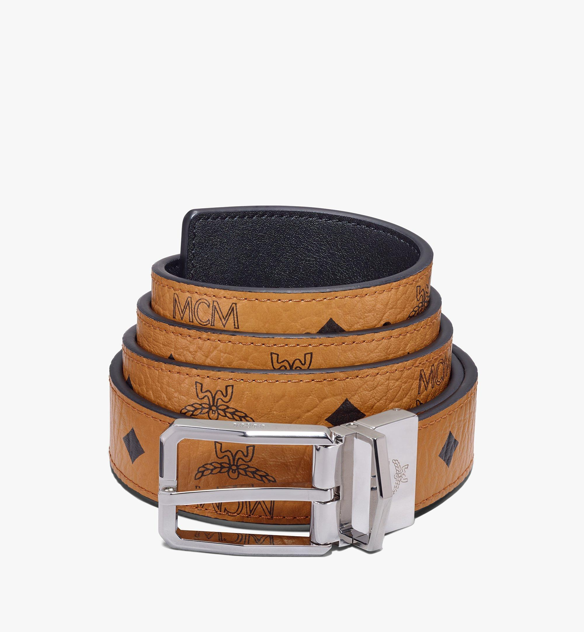 "MCM Reversible Belt 1"" in Visetos Cognac MXBAADB01CO001 Alternate View 1"