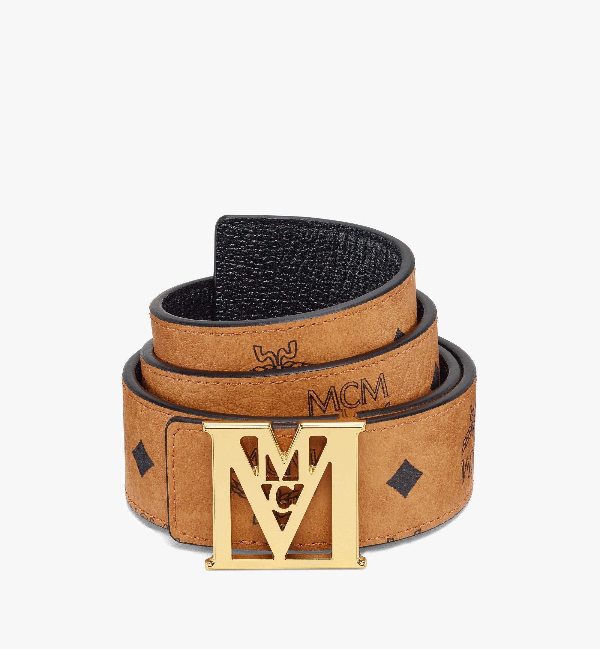 MCM Mena M Wendegürtel in Visetos, 3,8cm Cognac MXBAALM02CO110 Noch mehr sehen 1