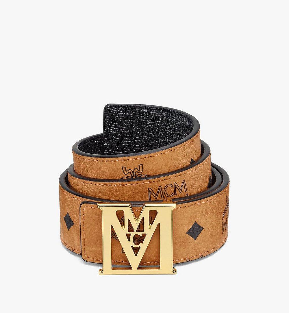 MCM Visetos 系列 Mena M 1.5 吋可翻轉使用皮帶 Cognac MXBAALM02CO110 更多視圖 1