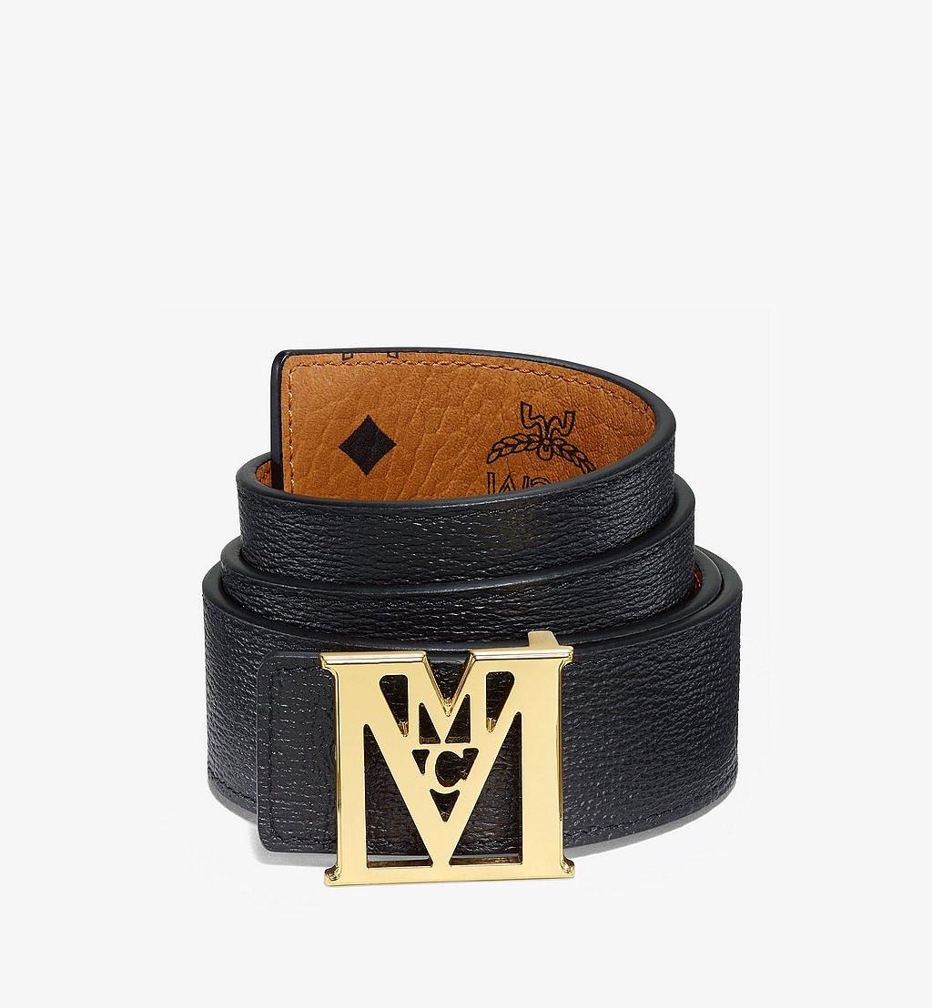 "MCM Mena M Reversible Belt 1.5"" in Visetos Cognac MXBAALM02CO110 Alternate View 1"