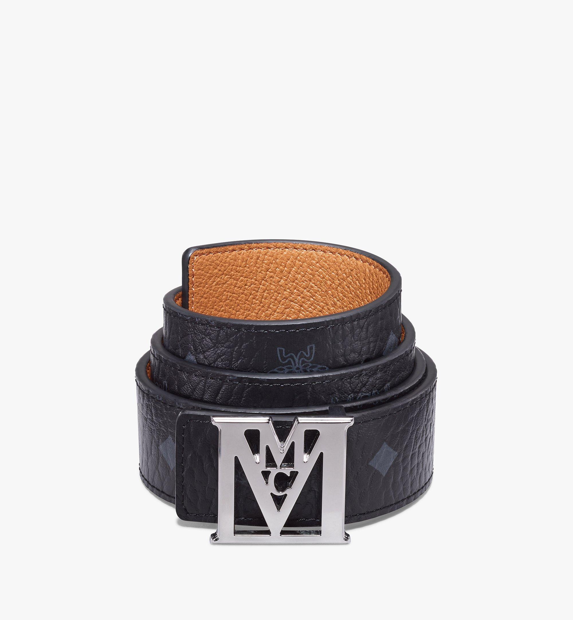 MCM Visetos 系列 Lea M 1.5 吋可翻轉使用皮帶 Black MXBAALM03BK100 更多視圖 1
