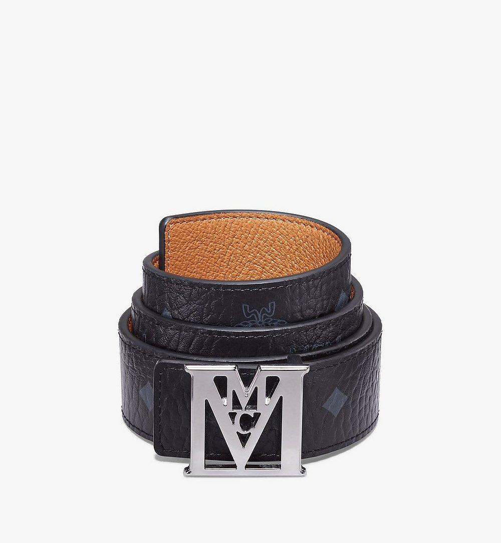 "MCM Mena M Reversible Belt 1.5"" in Visetos Black MXBAALM03BK100 Alternate View 1"