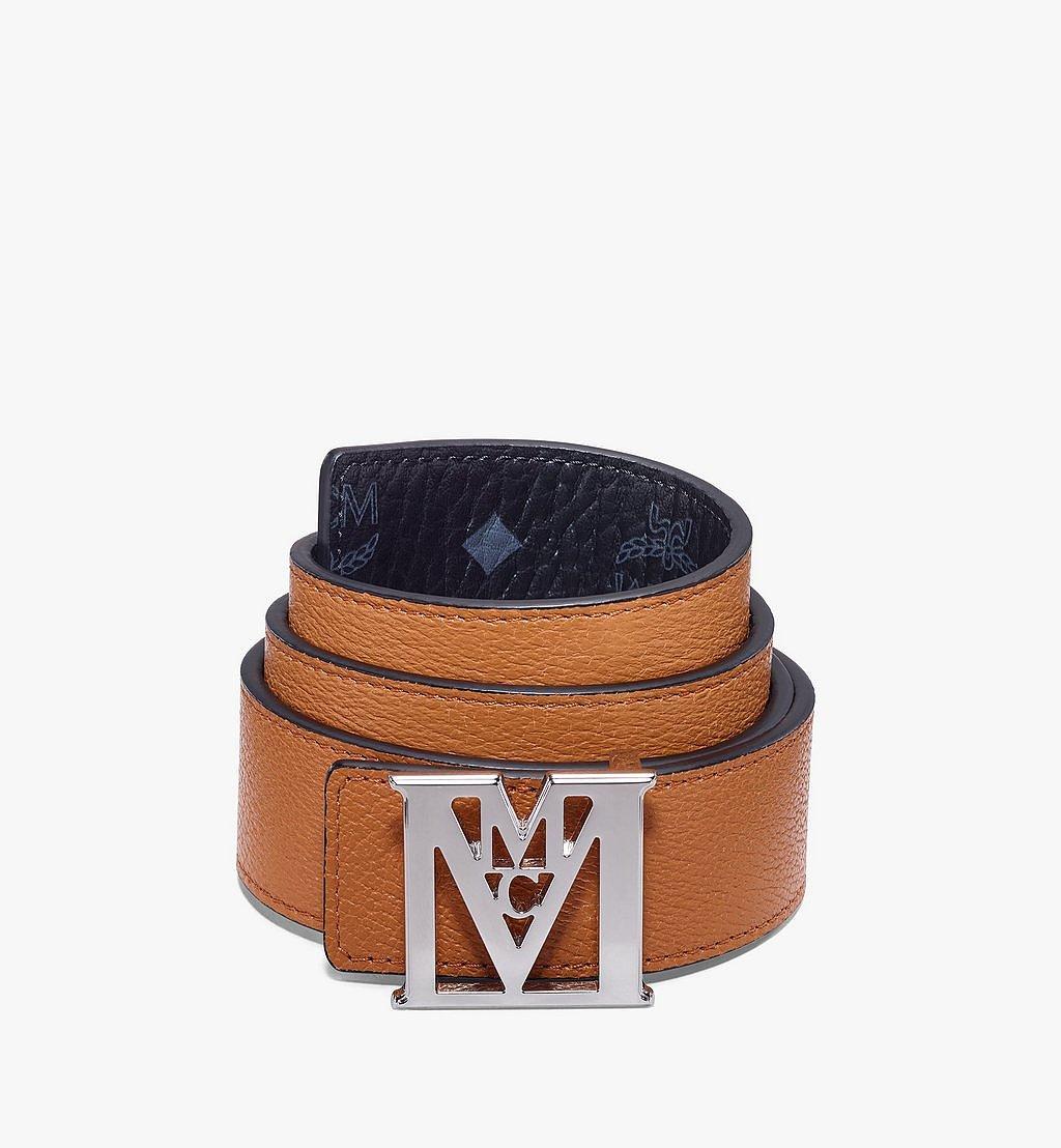 MCM Mena Visetos M字双面腰带 Black MXBAALM03BK100 更多视角 1