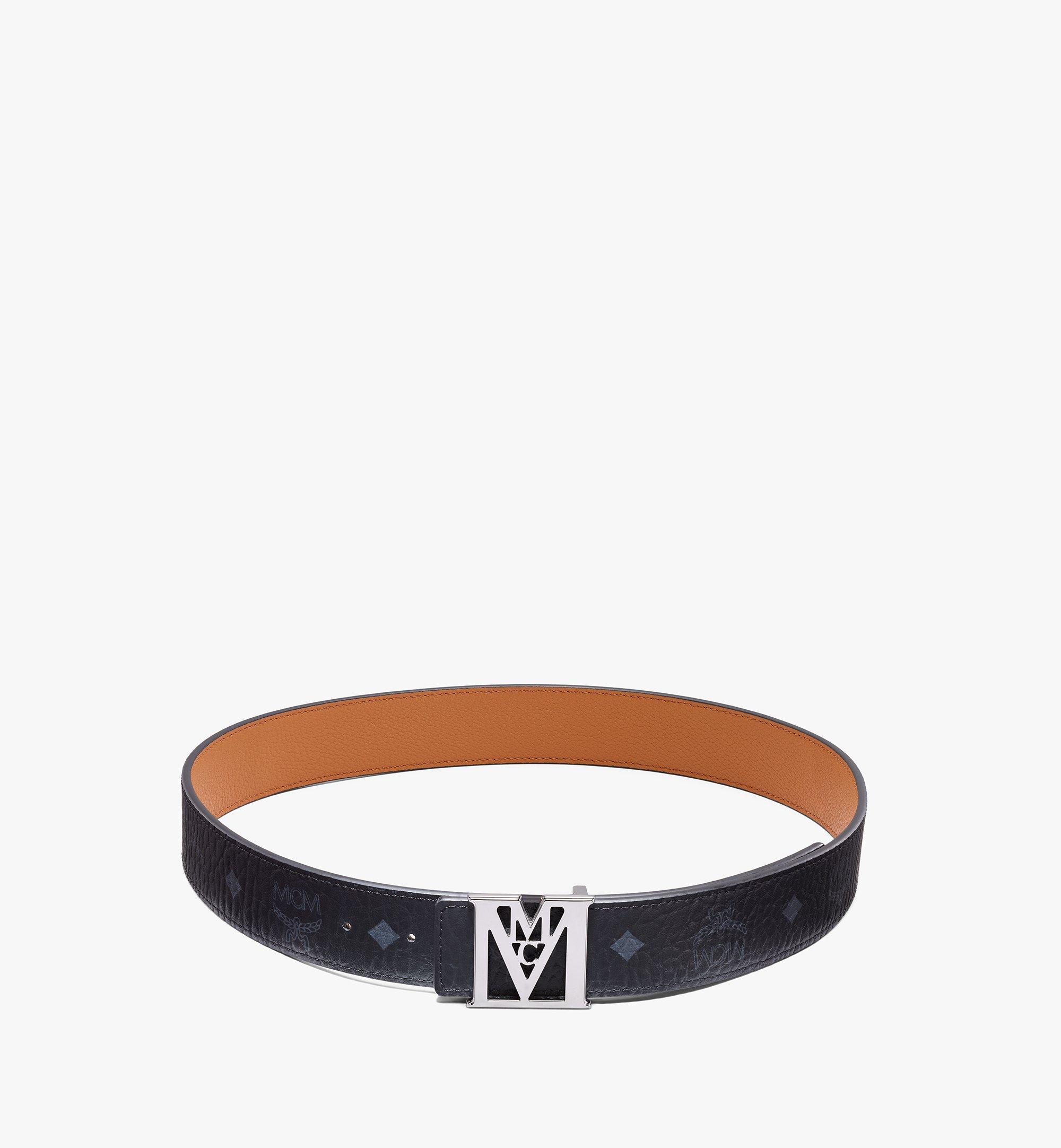 MCM Visetos 系列 Lea M 1.5 吋可翻轉使用皮帶 Black MXBAALM03BK100 更多視圖 2