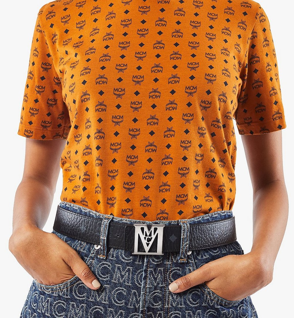 "MCM Mena M Reversible Belt 1.5"" in Visetos Black MXBAALM03BK100 Alternate View 2"