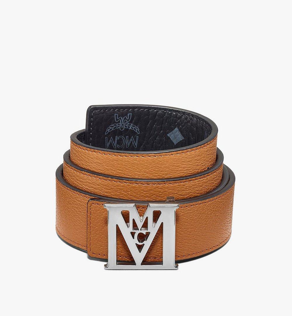 "MCM Mena M Reversible Belt 1.5"" in Visetos Black MXBAALM04BK110 Alternate View 1"