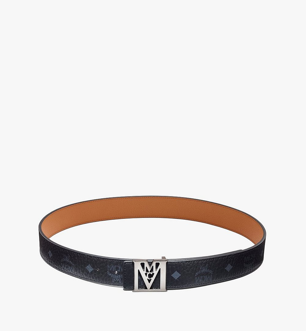 MCM Mena M Reversible Belt 3.8 cm in Visetos Cognac MXBAALM04BK110 Alternate View 2