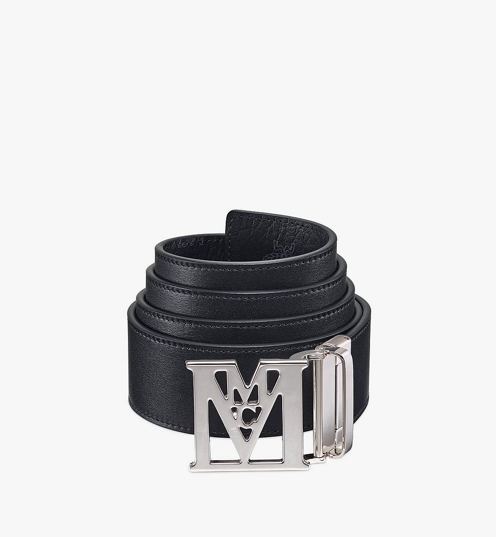 "MCM Mena M Reversible Belt 1.75"" in Visetos Black MXBAALM06BK001 Alternate View 1"