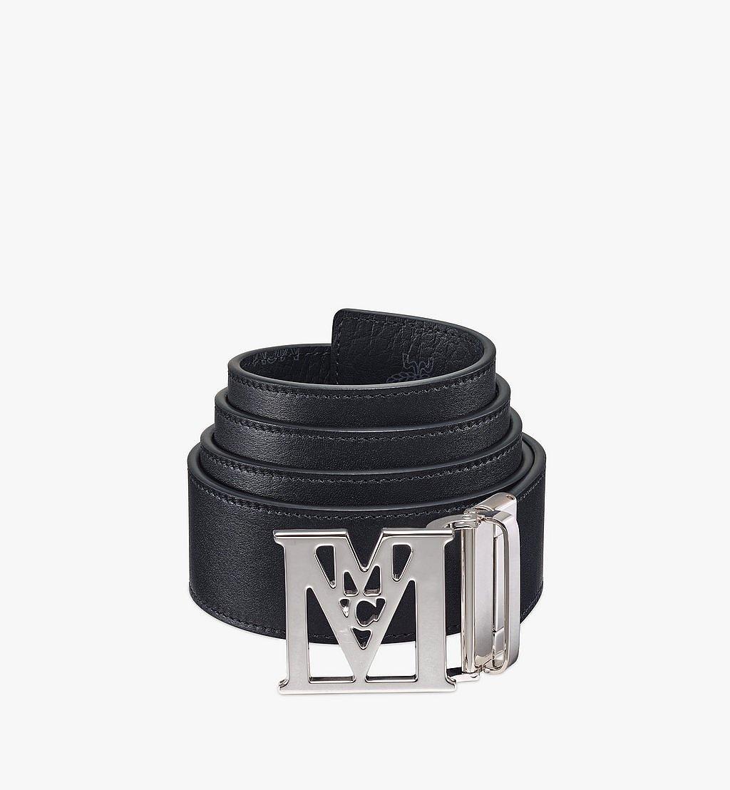 MCM Mena M Reversible Belt 4.5 cm in Visetos Black MXBAALM06BK001 Alternate View 1