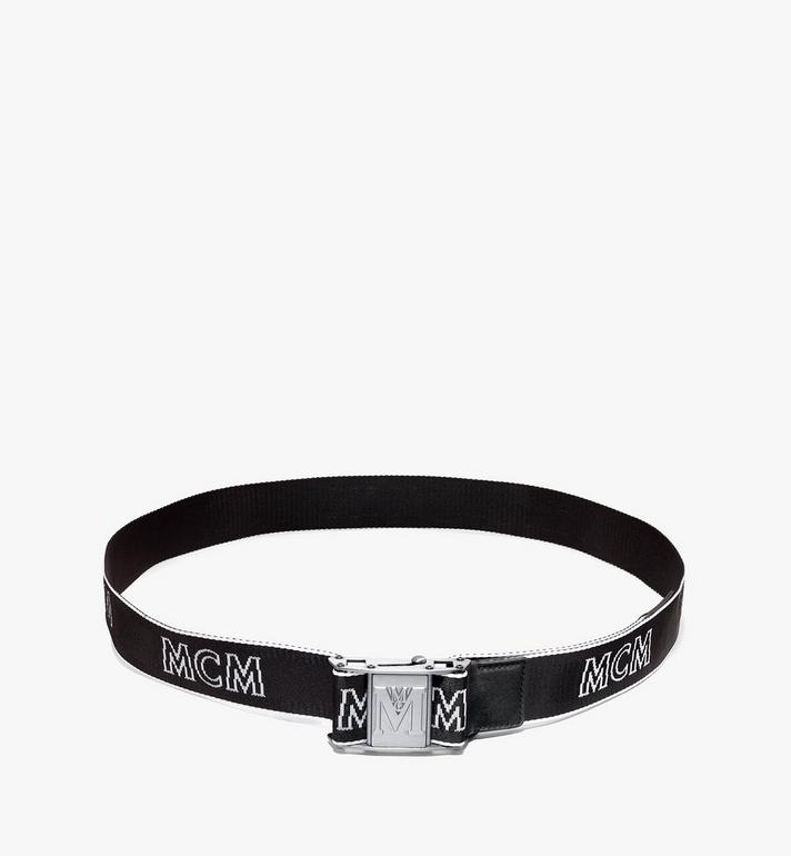 MCM Ceinture en toile à logo industriel 3,8 cm Black MXBAAMM01BK001 Alternate View 3