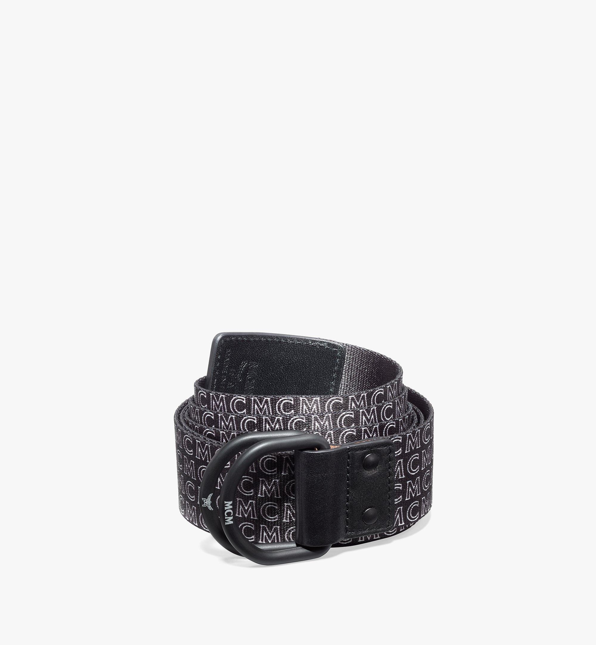 "MCM Ring Webbing Belt 1.5"" Black MXBAAMM05BK001 Alternate View 1"