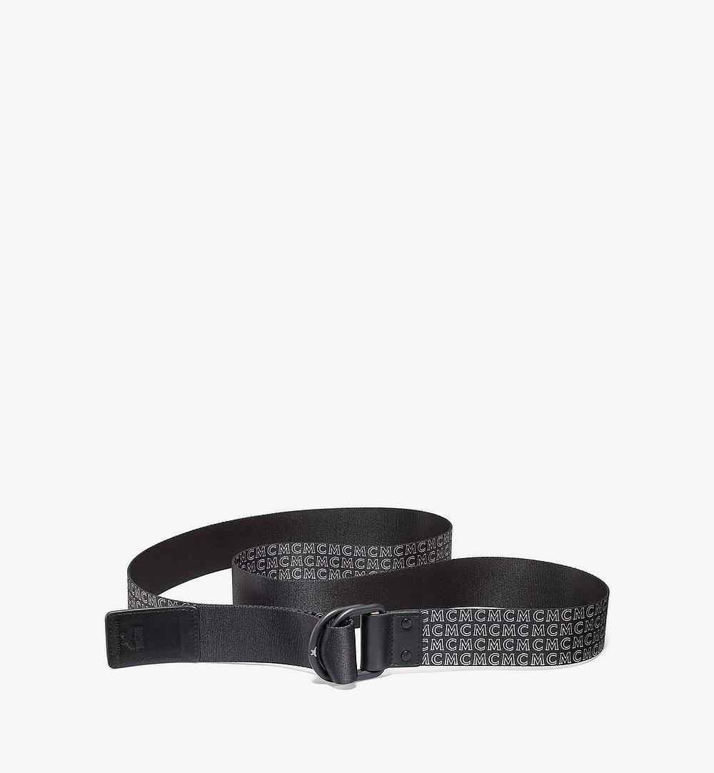 MCM 環形織帶腰帶 1.5 吋 Black MXBAAMM05BK001 更多視圖 1