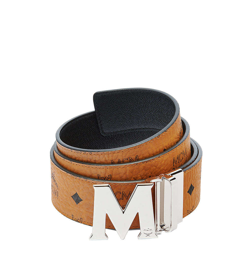 "MCM Claus M Reversible Belt 1.75"" in Visetos Cognac MXBAAVI01CO001 Alternate View 1"