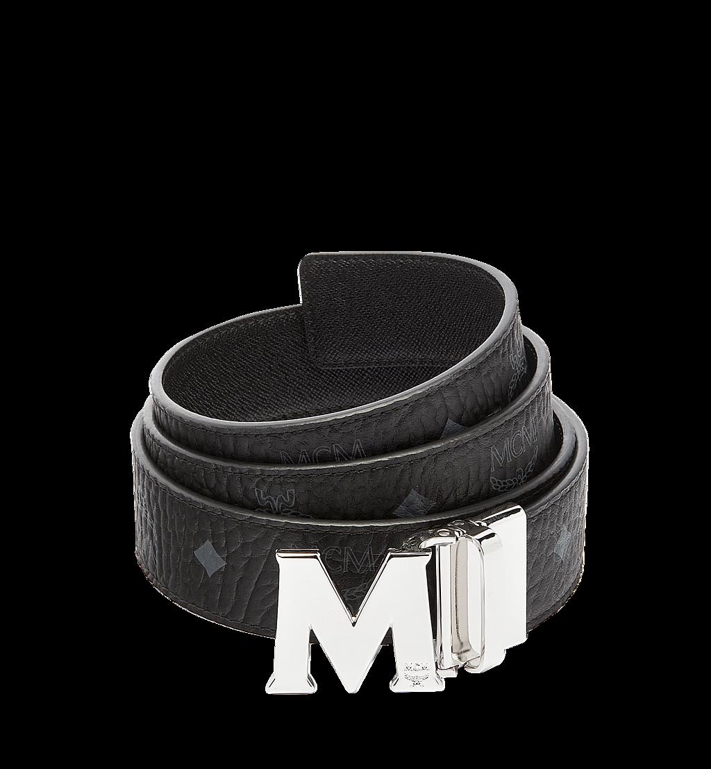 MCM Claus M Reversible Belt 3.8 cm in Visetos Cognac MXBAAVI02BK001 Alternate View 1