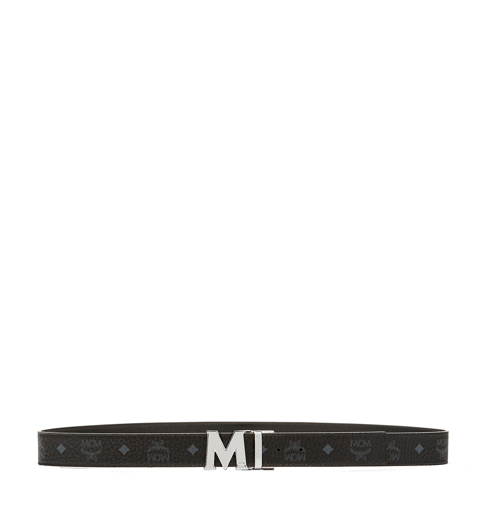 MCM Ceinture réversible Claus M 3,8cm en Visetos Black MXBAAVI02BK001 Plus de photos 2