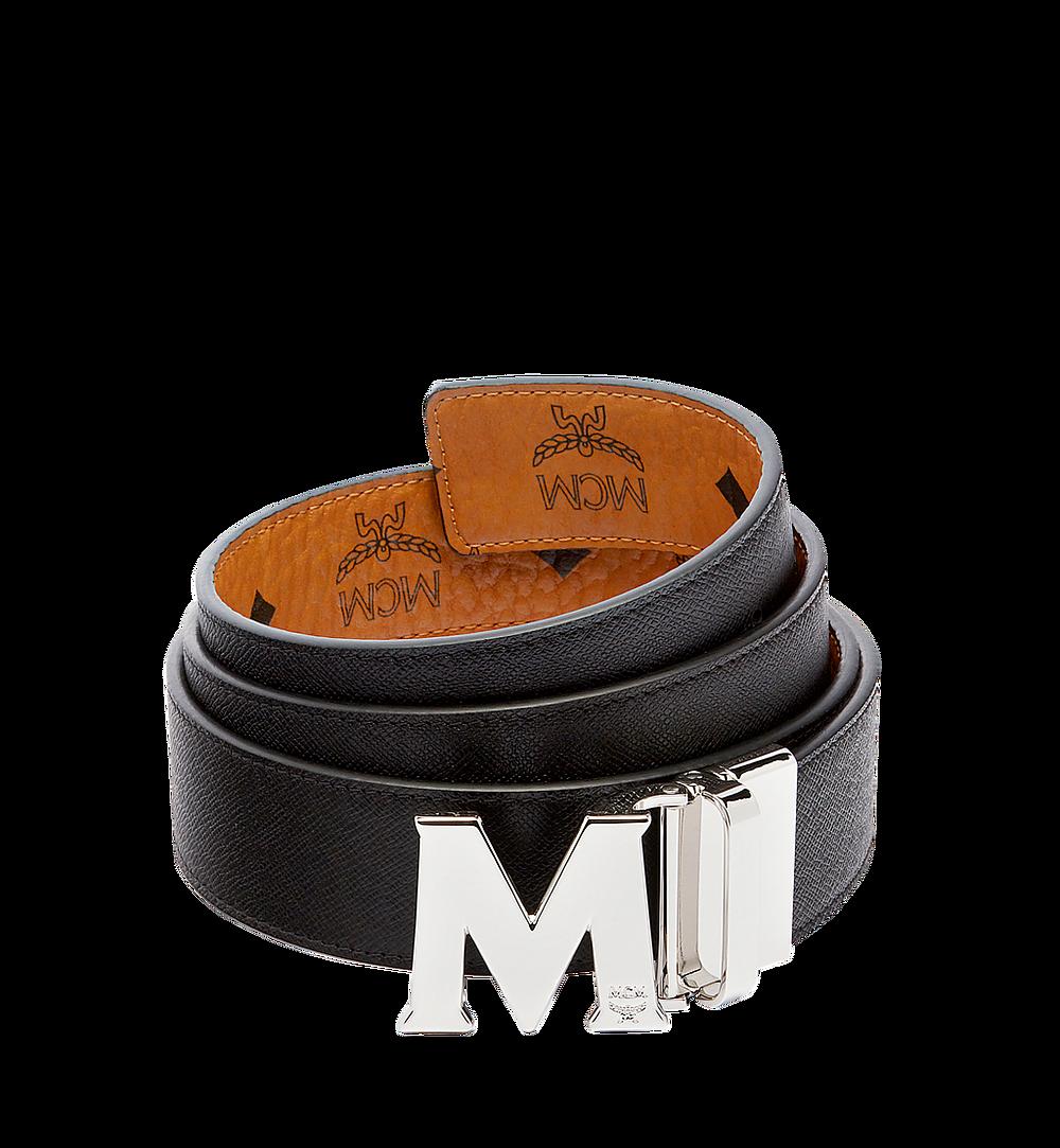 MCM Claus M Reversible Belt 3.8 cm in Visetos Gold MXBAAVI02CO001 Alternate View 1