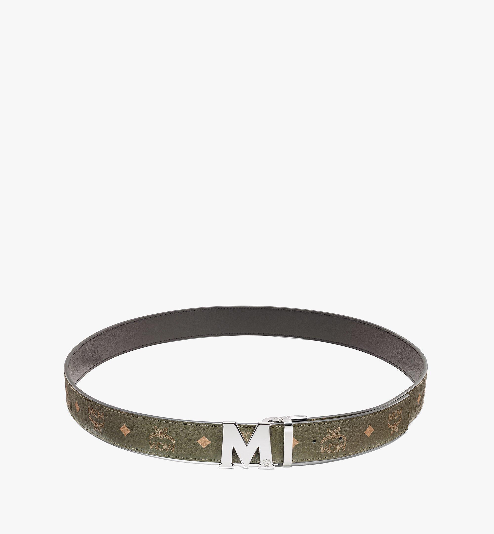 MCM Visetos 系列的 Claus M 1.5 吋雙面皮帶 Green MXBAAVI02JH001 更多視圖 1