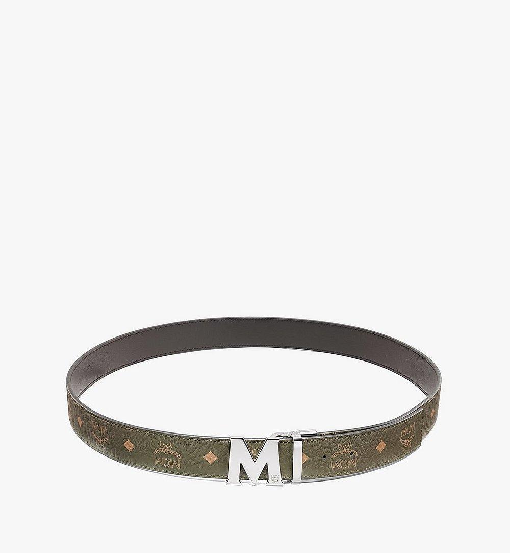 """MCM Claus M Reversible Belt 1.5"""" in Visetos Green MXBAAVI02JH001 Alternate View 1"""