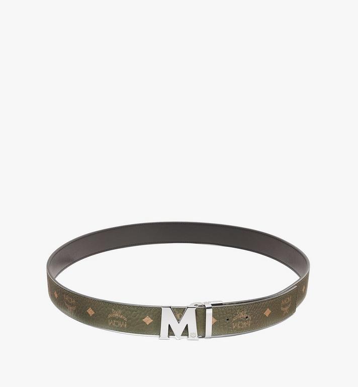 """MCM Claus M Reversible Belt 1.5"""" in Visetos Green MXBAAVI02JH001 Alternate View 2"""
