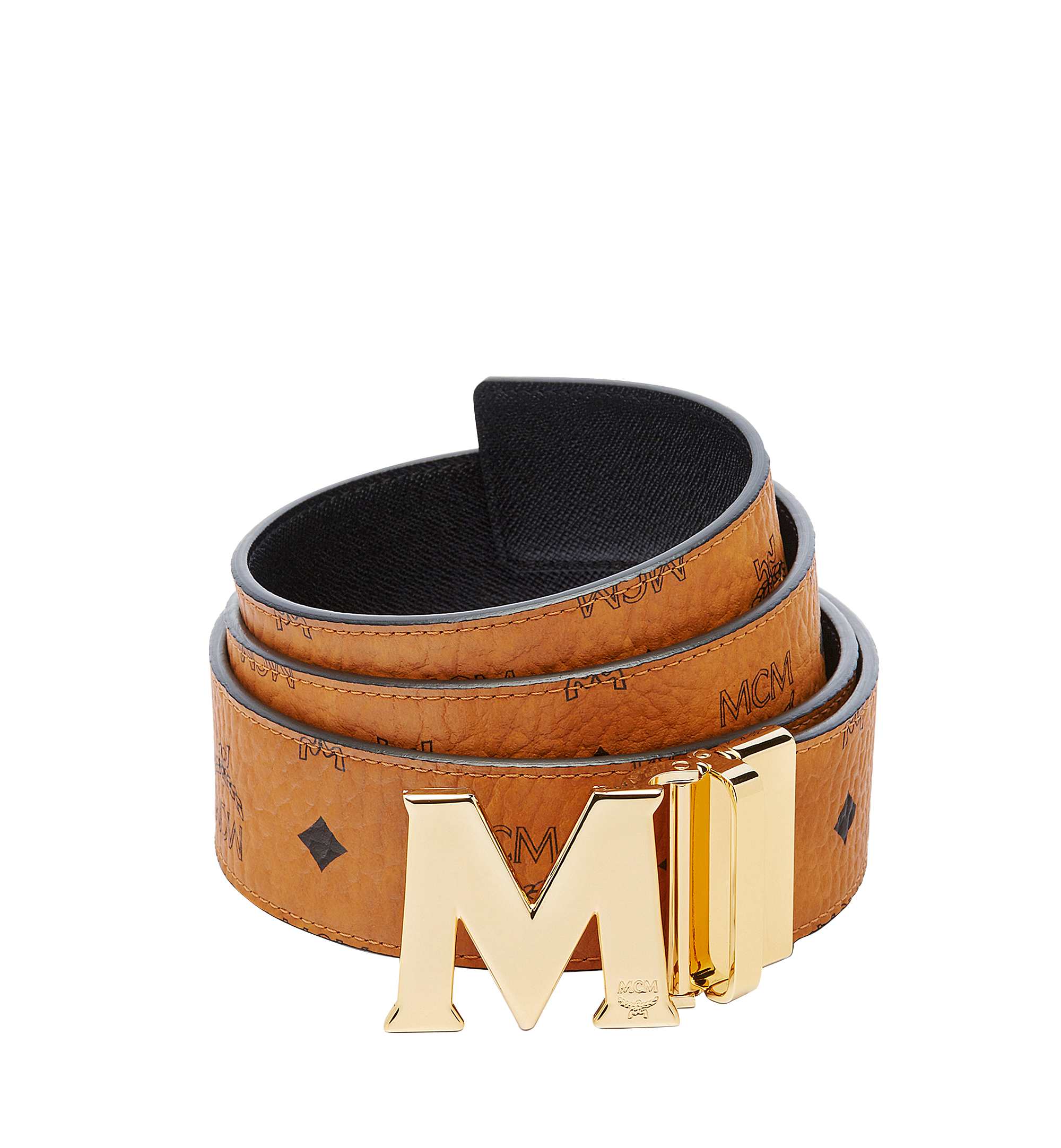 "MCM Claus M Reversible Belt 1.75"" in Visetos Cognac MXBAAVI03CO001 Alternate View 1"