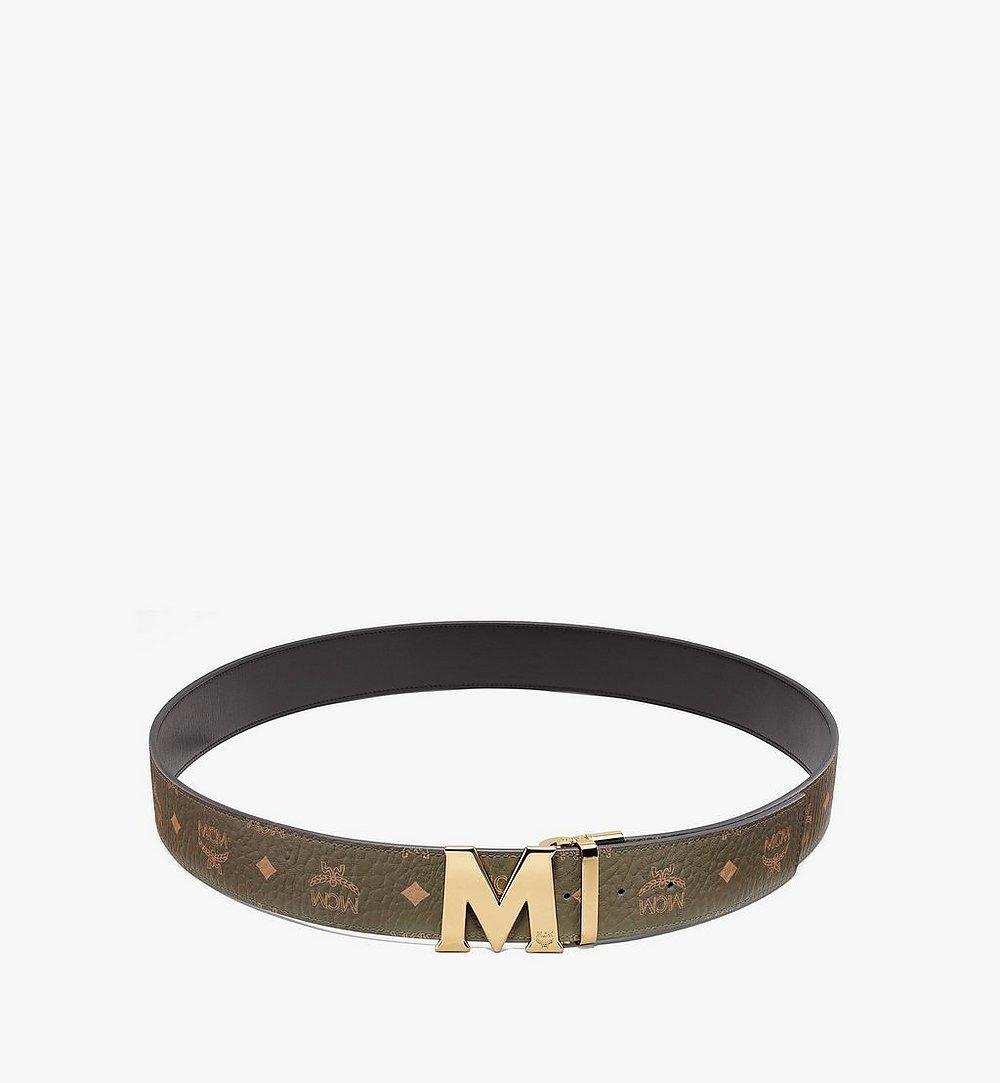 """MCM Claus M Reversible Belt 1.75"""" in Visetos Green MXBAAVI03JH001 Alternate View 1"""