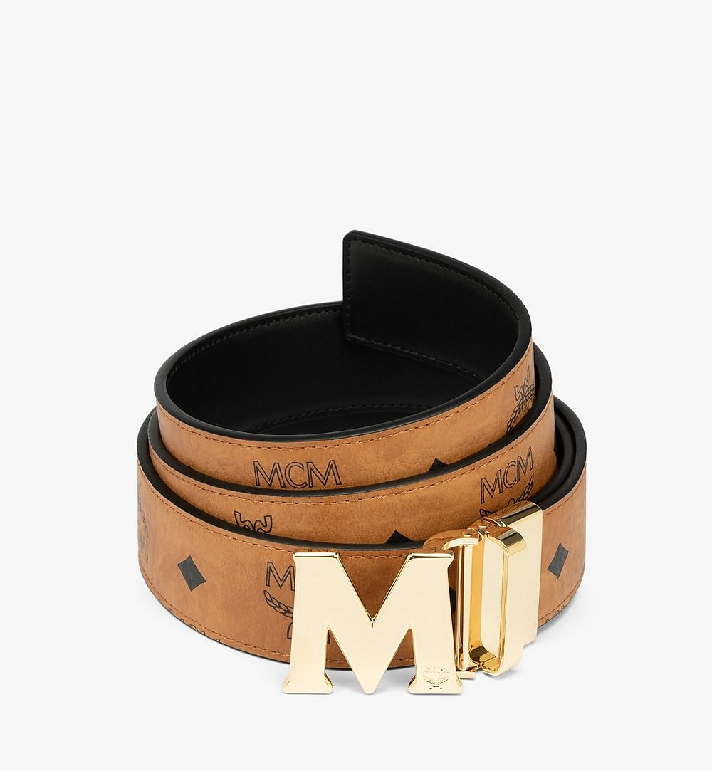 MCM Claus M Reversible Belt 3.8 cm in Visetos Cognac MXBAAVI04CO001 Alternate View 1