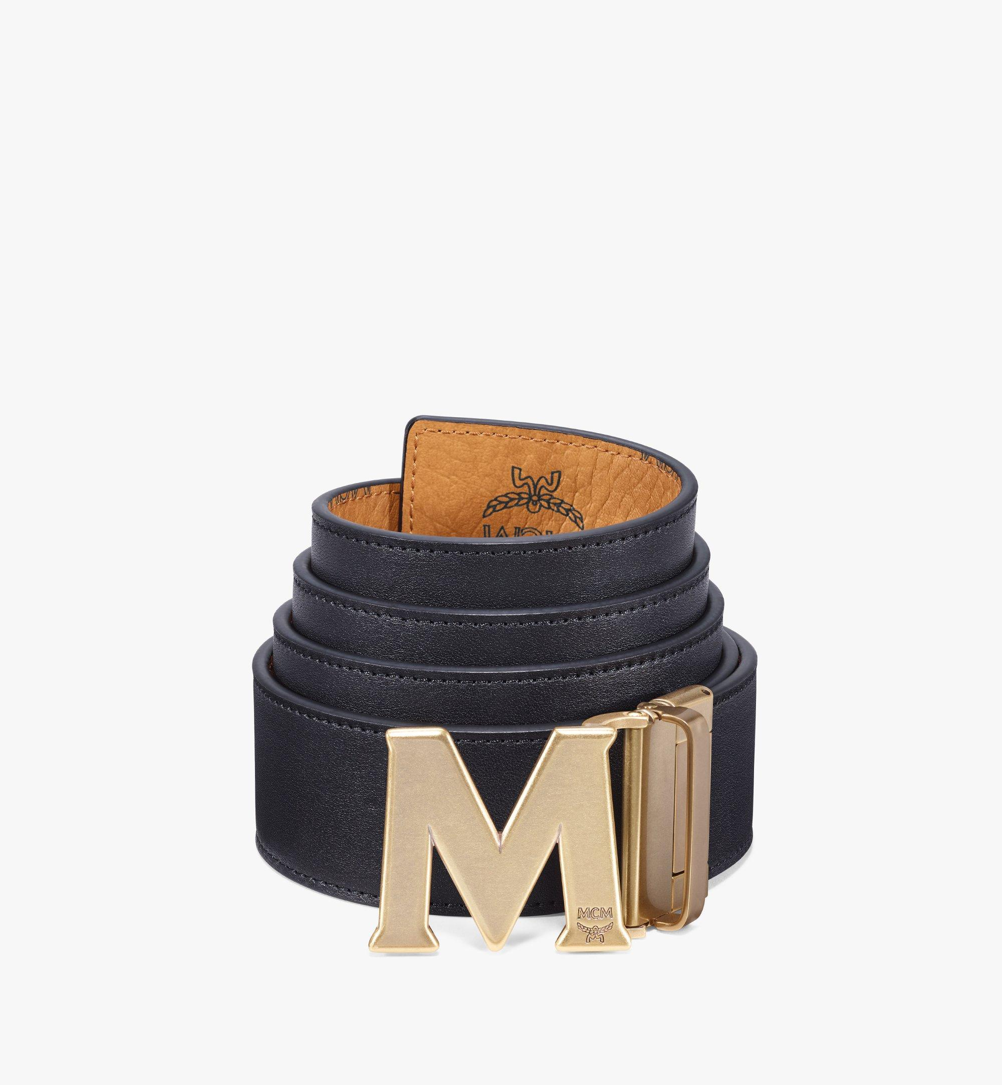 """MCM Claus Antique M Reversible Belt 1.75"""" in Visetos Cognac MXBAAVI05CO001 Alternate View 1"""