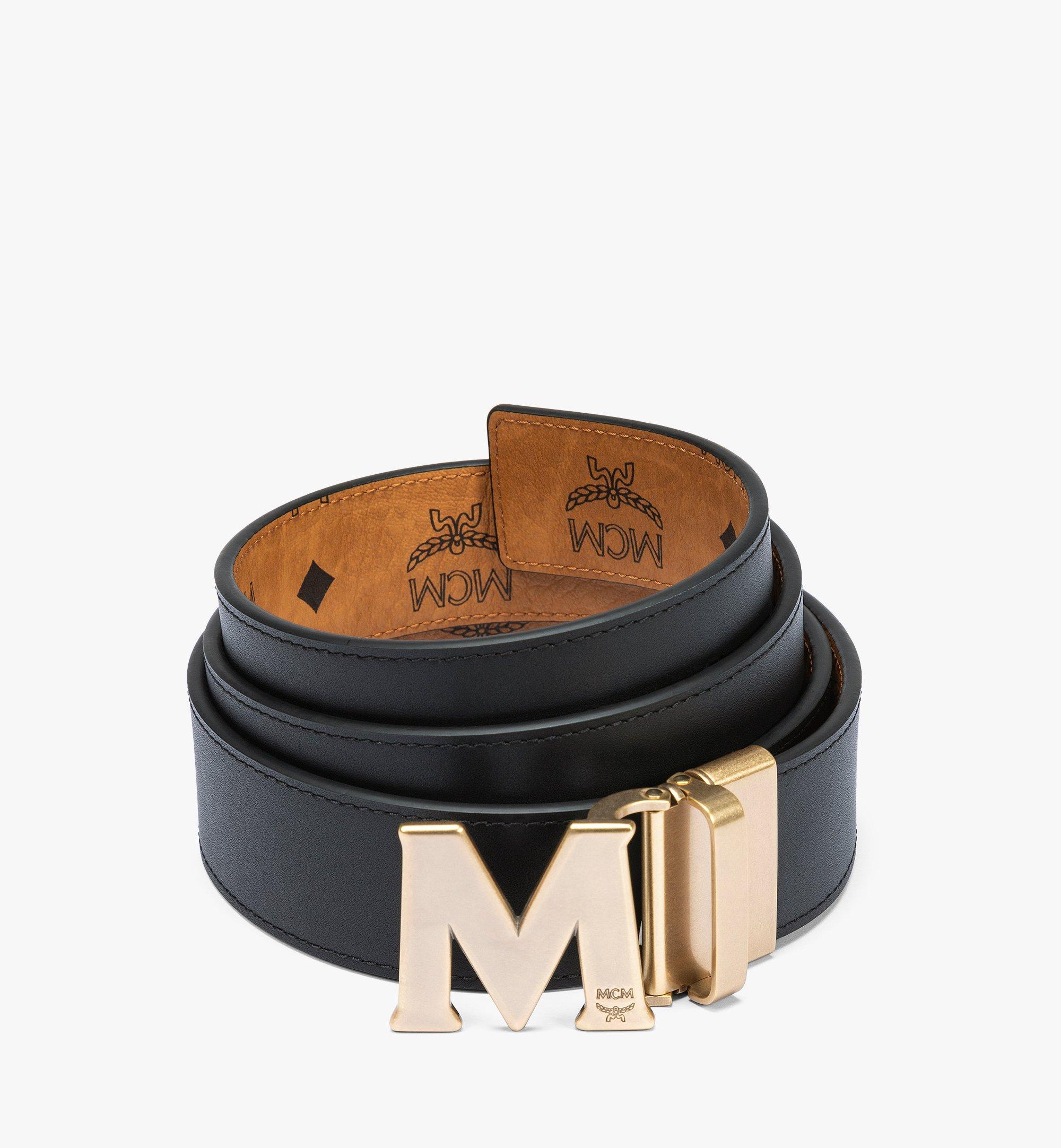MCM Claus Antique M Reversible Belt 3.8 cm in Visetos Cognac MXBAAVI06CO001 Alternate View 1