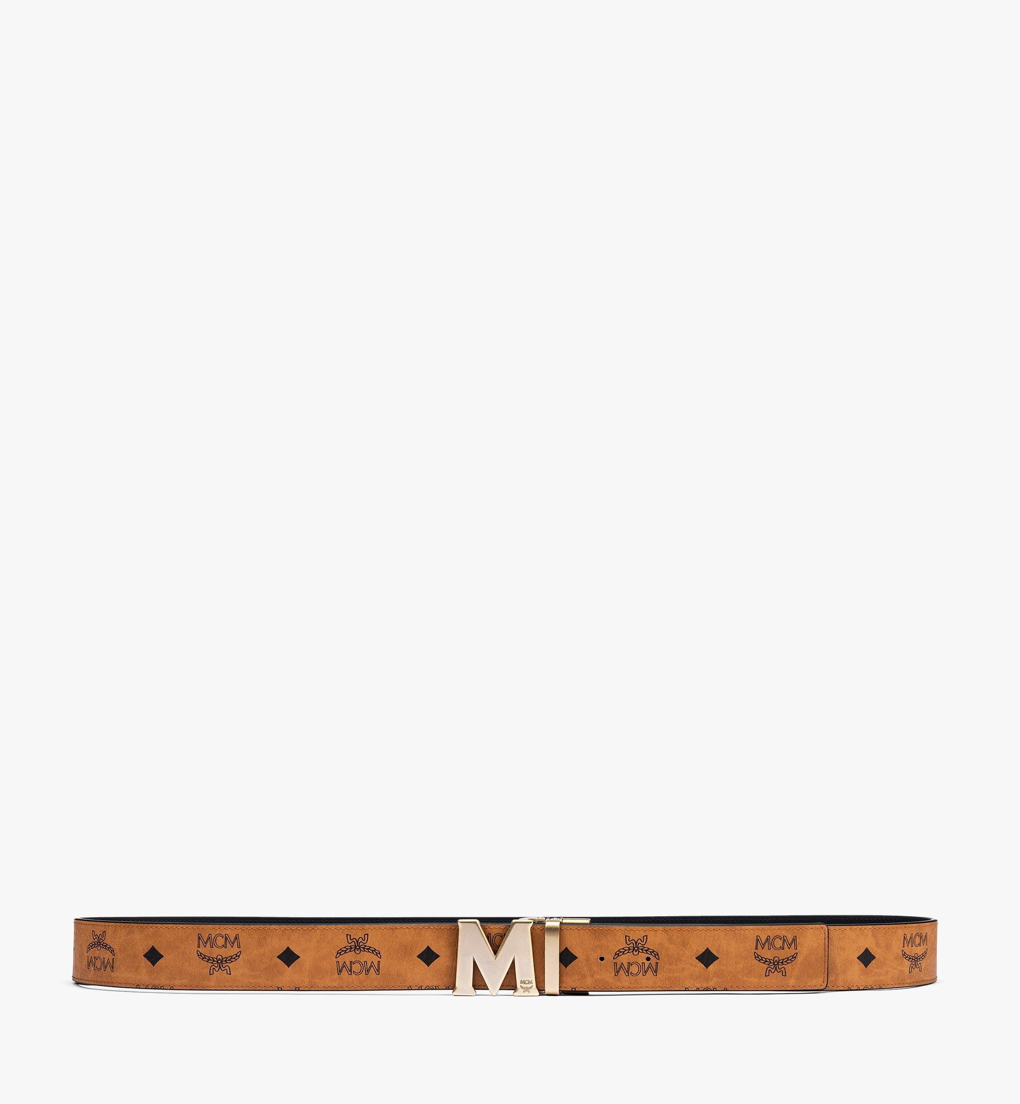 MCM Claus Antique M Reversible Belt 3.8 cm in Visetos Cognac MXBAAVI06CO001 Alternate View 2