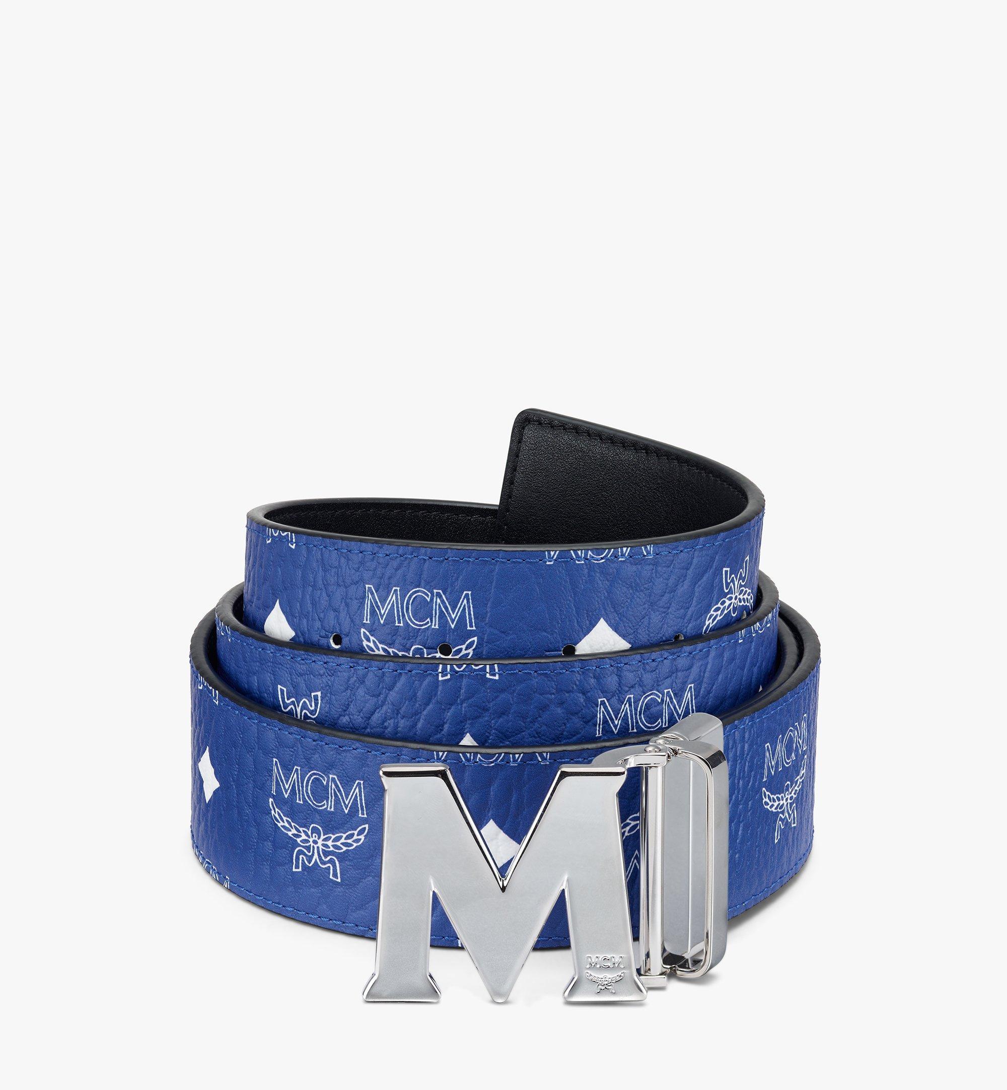 MCM Visetos 系列的 Claus M 1.75 吋可翻轉皮帶 Blue MXBASVI11H1001 更多視圖 1