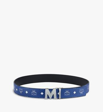 "MCM Claus M Reversible Belt 1.75"" in Visetos Blue MXBASVI11H1001 Alternate View 3"