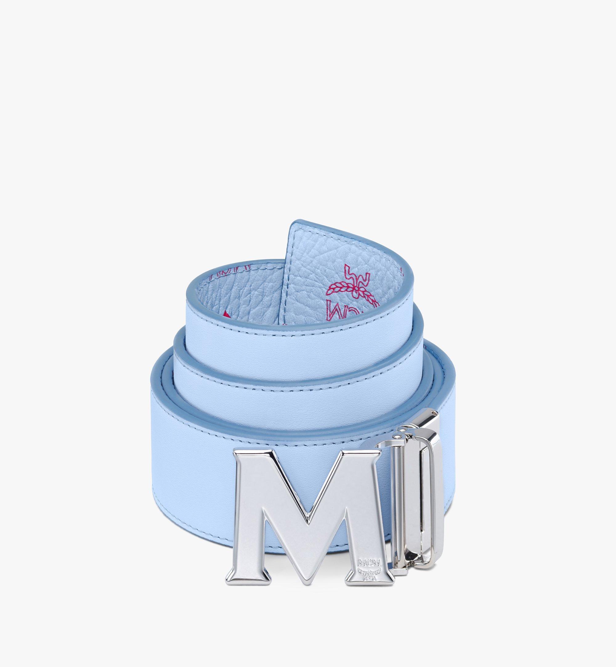 "MCM Claus M Reversible Belt 1.75"" in Visetos Blue MXBASVI11H2001 Alternate View 1"