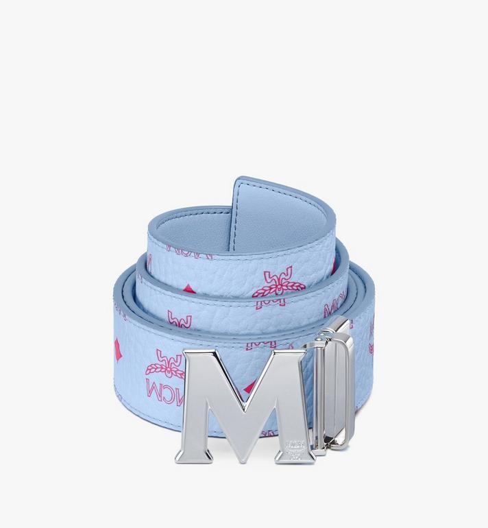 "MCM Claus M Reversible Belt 1.75"" in Visetos Blue MXBASVI11H2001 Alternate View 2"