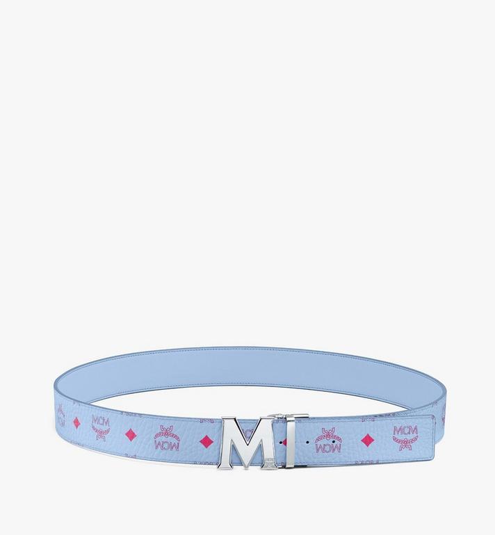 "MCM Claus M Reversible Belt 1.75"" in Visetos Blue MXBASVI11H2001 Alternate View 3"