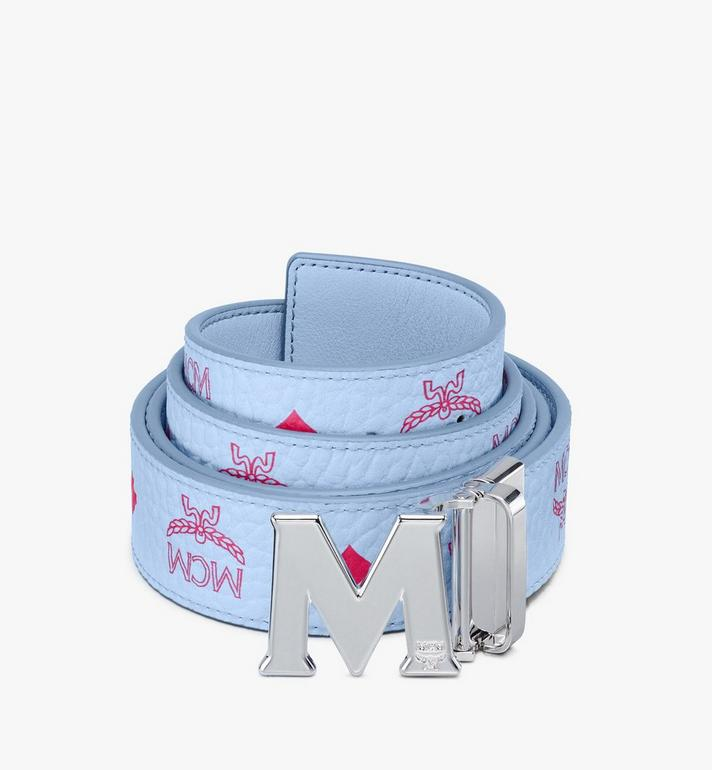 "MCM Claus M Reversible Belt 1.5"" in Visetos Blue MXBASVI12H2001 Alternate View 1"