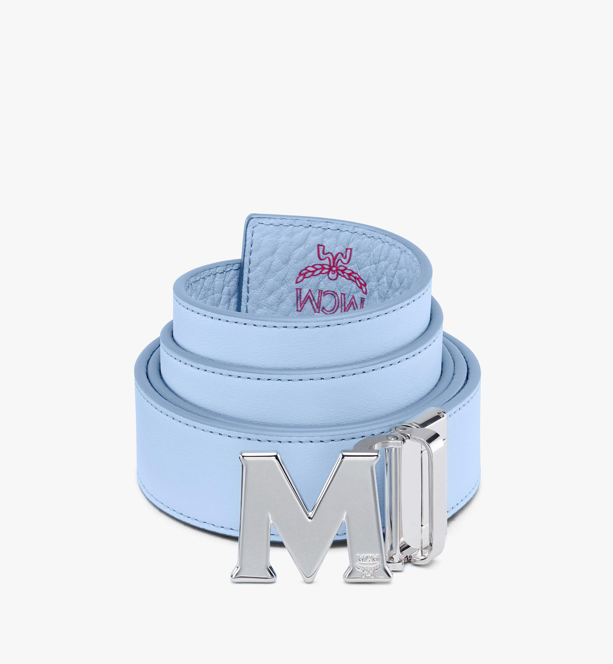 "MCM Claus M Reversible Belt 1.5"" in Visetos Blue MXBASVI12H2001 Alternate View 2"