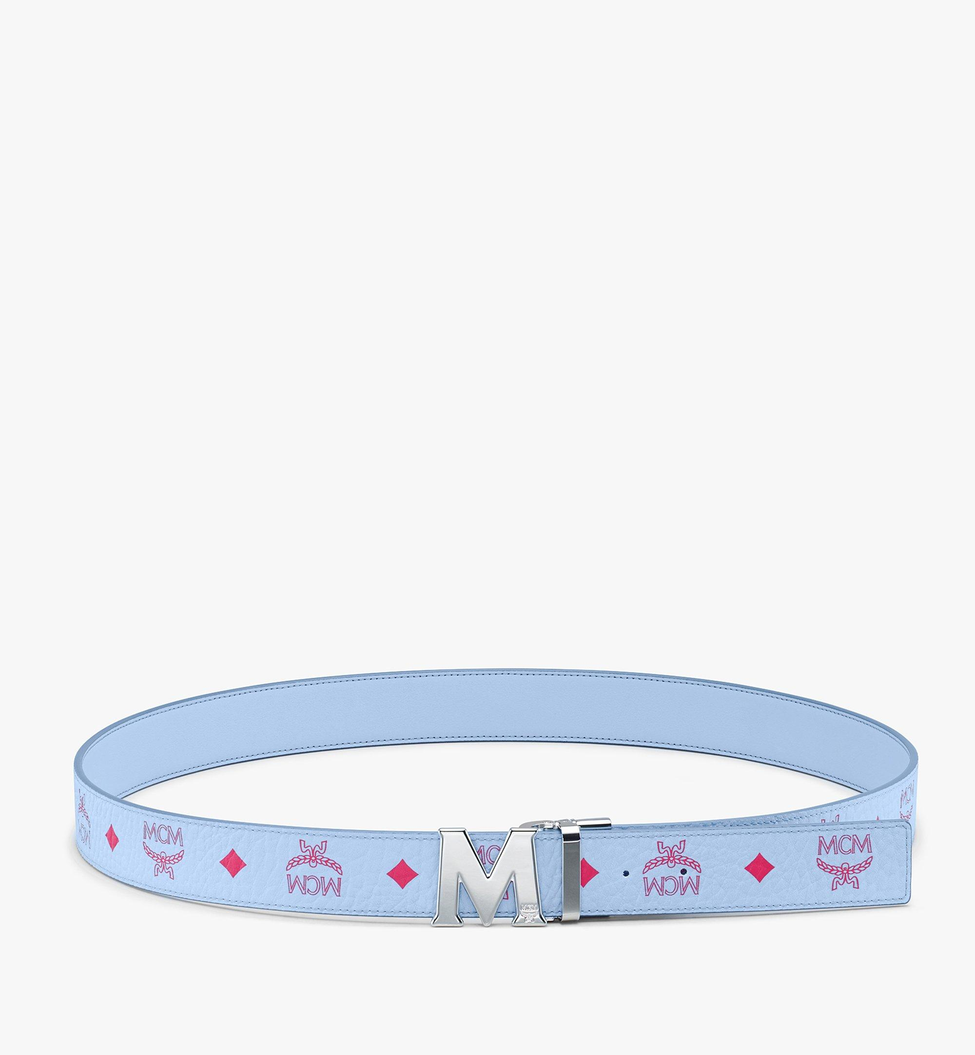 "MCM Claus M Reversible Belt 1.5"" in Visetos Blue MXBASVI12H2001 Alternate View 3"