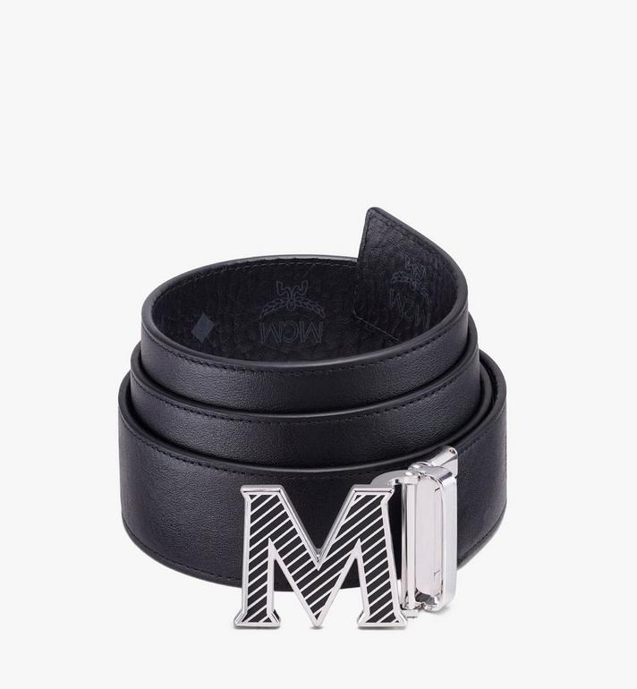 """MCM Claus Oblique M Reversible Belt 1.5"""" in Visetos Black MXBASVI19BK001 Alternate View 2"""