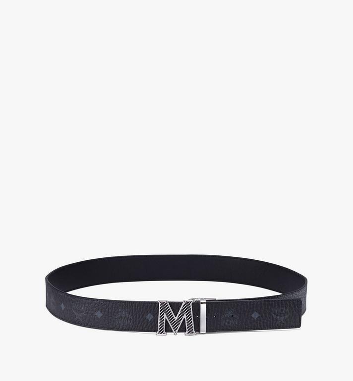 """MCM Claus Oblique M Reversible Belt 1.5"""" in Visetos Black MXBASVI19BK001 Alternate View 3"""
