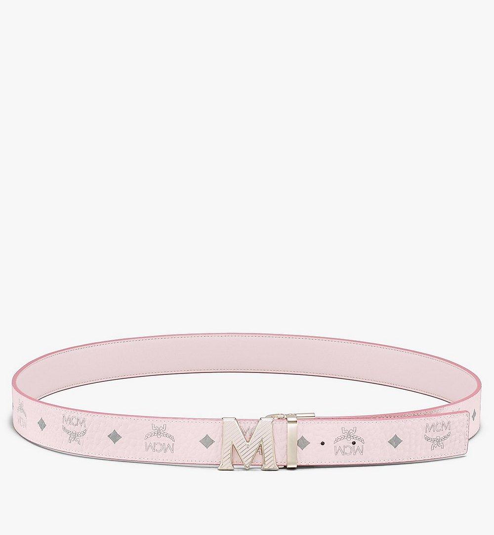 """MCM Claus Oblique M Reversible Belt 1.5"""" in Visetos Pink MXBASVI20QH001 Alternate View 2"""