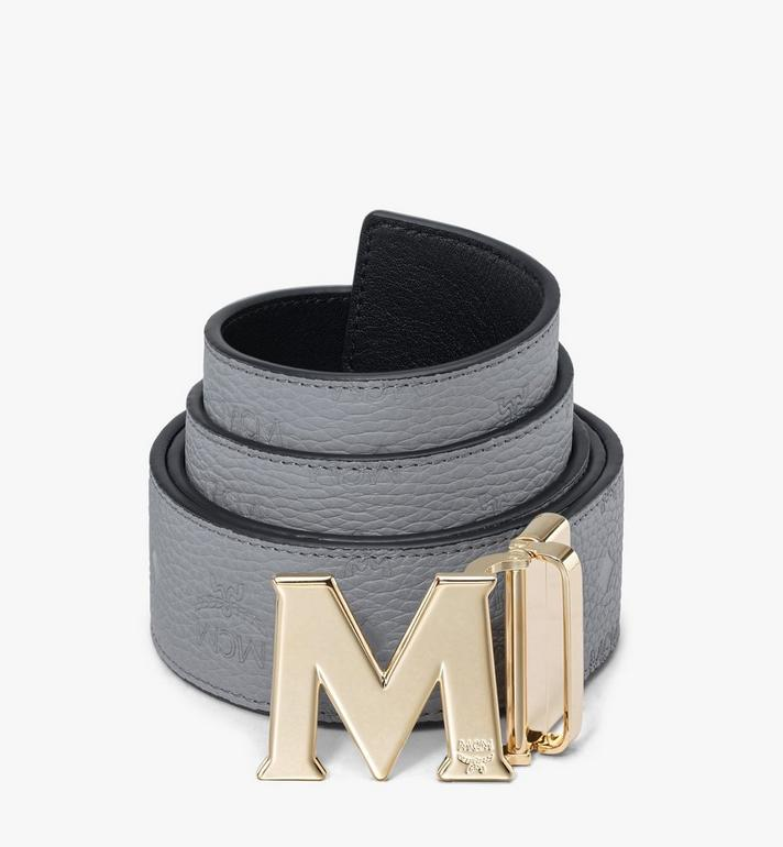 "MCM Claus M Reversible Belt 1.75"" in Monogram Leather Alternate View"