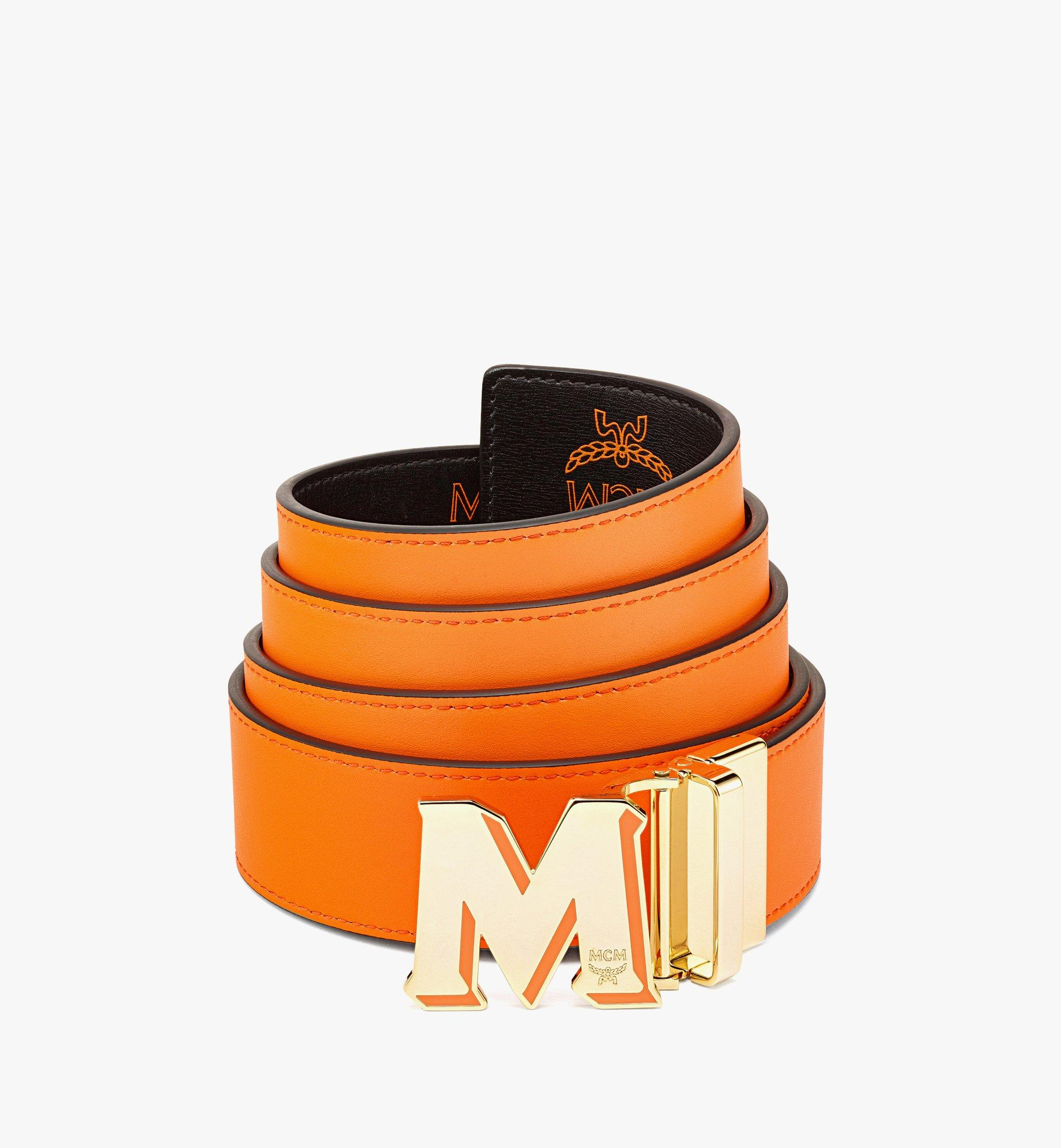 """MCM ClausWendegürtel aus geprägtem Leder mit """"M""""-Schnalle aus Epoxidharz, 3,8cm Orange MXBBAVI08O9001 Noch mehr sehen 1"""